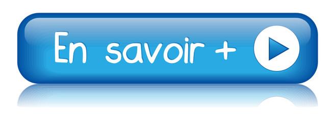 """Bouton Web """"EN SAVOIR +"""" (plus d'informations à propos bleu)"""