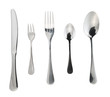 Cutlery silverware or flatware isolated