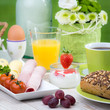 vielfalt beim frühstück