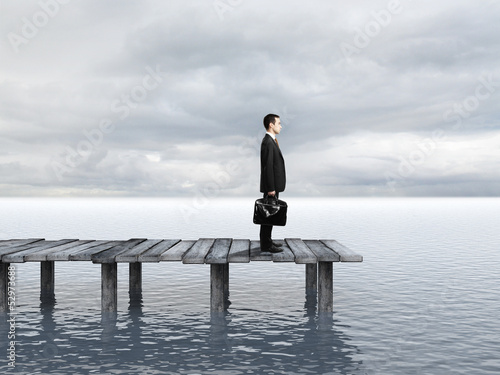 businessman on pier