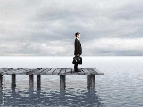 businessman on pier