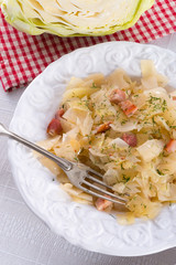 tasty braised cabbage vegetables