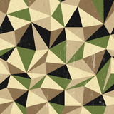 Retro triangles background, vector