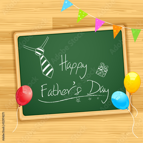 Happy Father's Day message on Board