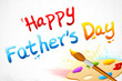 Happy Father's Day written with paint brush
