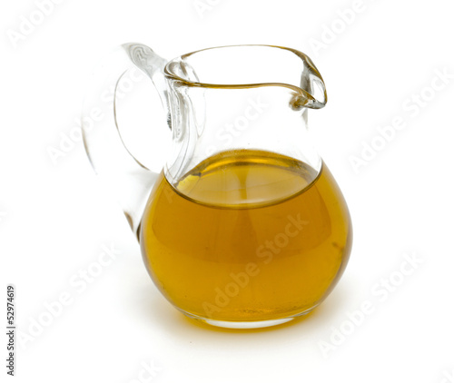 olive oil in a pitcher