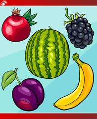 fruits set cartoon illustration