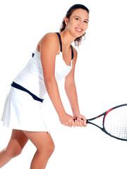 mädchen spielt tennis