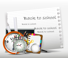 modern back to school background for you design