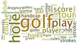 Golf tag cloud