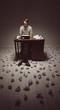 Journalistr and his typewriter
