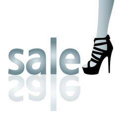 sale and high heels