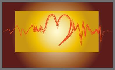 battito del cuore rosso