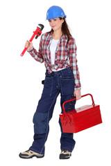 Female DIY fan with tool-kit