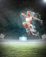 Sport young woman