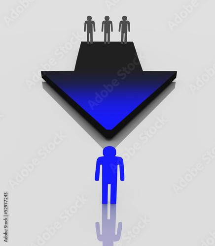 3d Pfeil Weg zum Erfolg, Führung, Fortschritt, Vorsprung