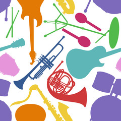 Seamless pattern of musical instruments