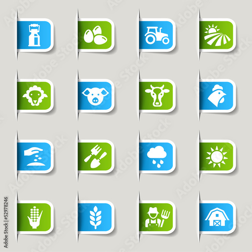 Label - Agriculture and Farming icons