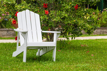 Adirondack Chair in the garden