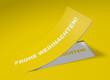 3D Etikett Gelb - Frohe Weihnachten!