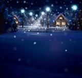 Fototapety Vector of winter landscape. Merry Christmas!