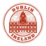 Grunge stamp with Dublin, Ireland inside, vector illustration