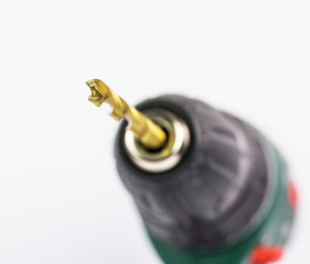 Power drill and titanium coated drill bit