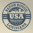 Grunge rubber stamp with name of Louisiana, Baton Rouge, vector