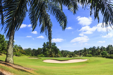 Scenic golf course in thailand