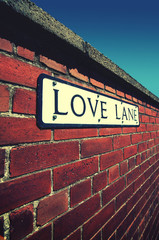 love lane street sign