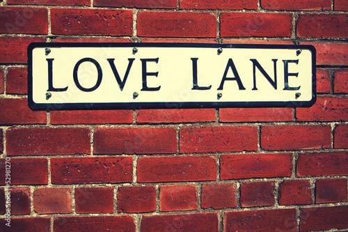 love lane sign on wall