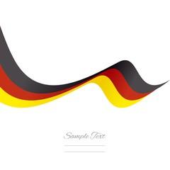 Abstract German ribbon vector