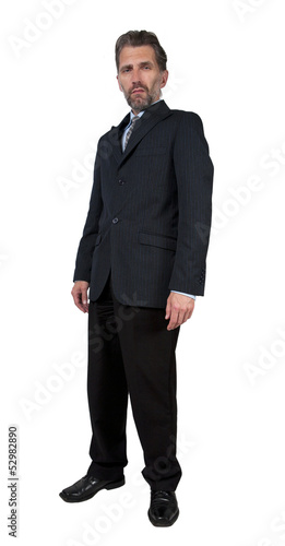 adult man with scornful look