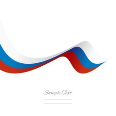 Abstract Russian ribbon vector
