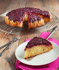 Blackcurrant Upside Down Cake
