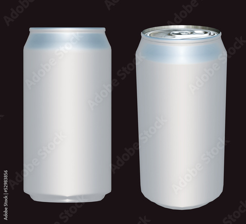 3d white can different background for new product