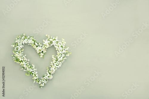 Heart shaped flower wreath