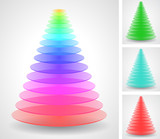 Beautiful color pyramids set