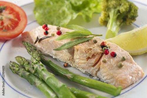 Cuisine vapeur - Pavé de saumon