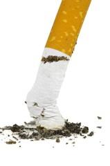 closeup eines zigarettenstummels