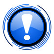 exclamation sign circle blue glossy icon