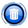 recycle circle blue glossy icon
