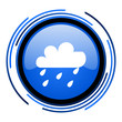 weather forecast circle blue glossy icon