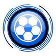 soccer circle blue glossy icon