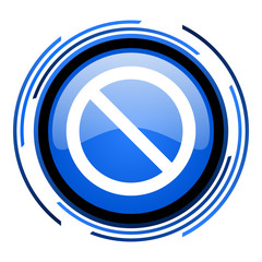 access denied circle blue glossy icon
