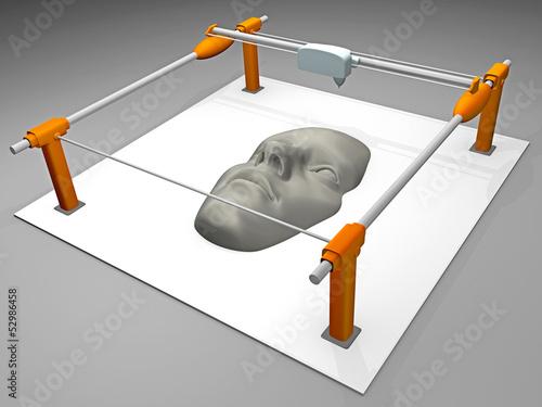 canvas print picture 3D Drucker_Gesicht / Figur - 3D