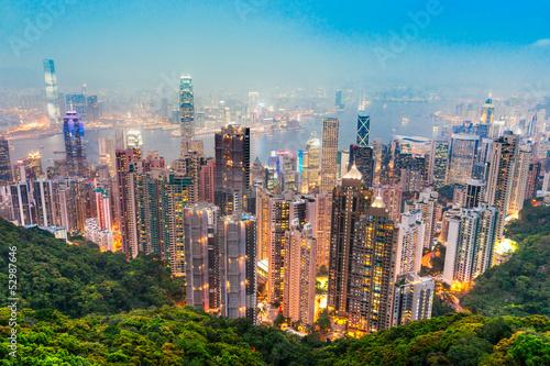 In de dag Hong-Kong Hong Kong.