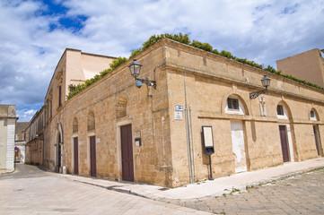 Episcopal palace. Ugento. Puglia. Italy.