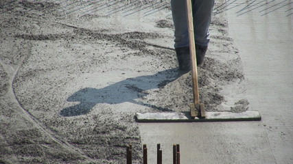 leveling cement floor