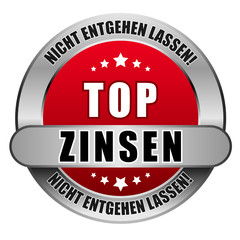 5 Star Button rot TOP ZINSEN NEL NEL